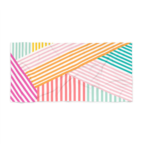 Geometric Stripe Beach Towel