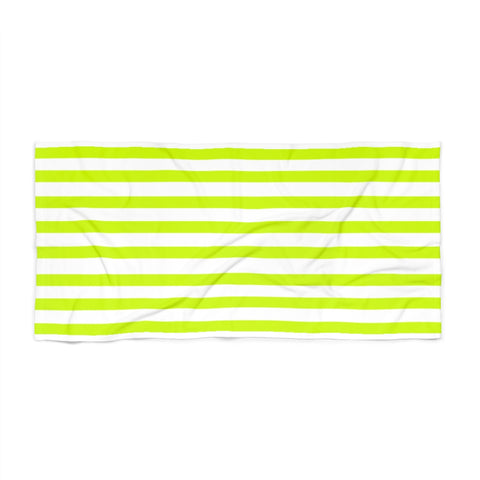 Citron Cabana Stripe Beach Towel