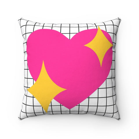 Heart Emoji Valentine's Throw Pillow
