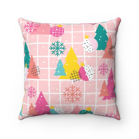 Memphis Christmas Holiday Throw Pillow
