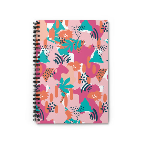 Modern Tropical Spiral Notebook - Ruled Line