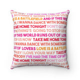 80's Love Songs Valentine's Throw Pillow