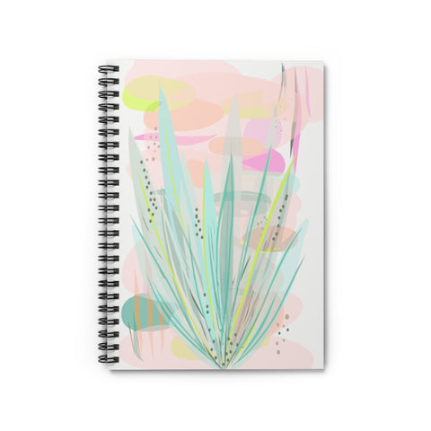 Abstact Aloe Plant Notebook - Ruled Line