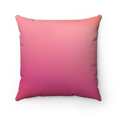 Magenta to Pink Gradient Throw Pillow