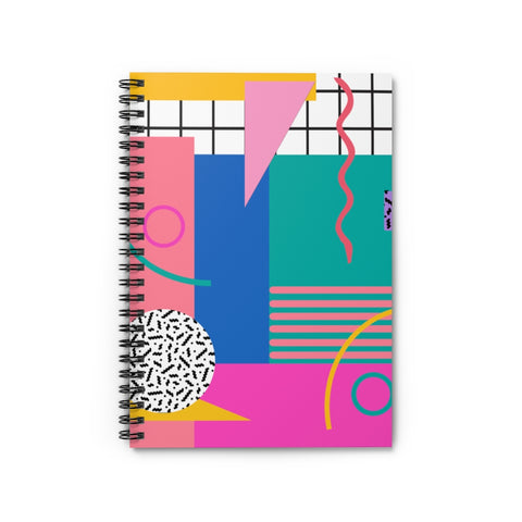 Pink Totally 80's Spiral Notebook - Ruled Line