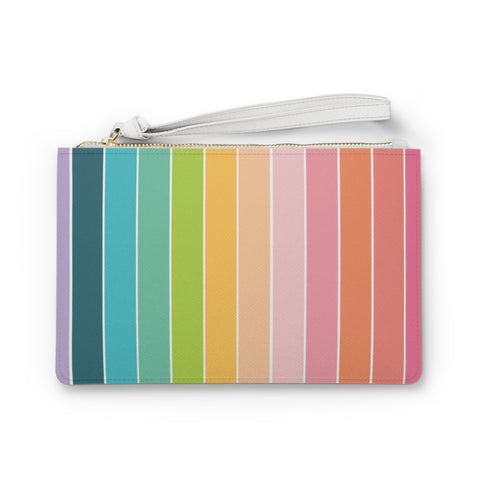 Rainbow Stripe Clutch Bag