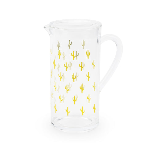 Gold cactus acrylic drink pitcher