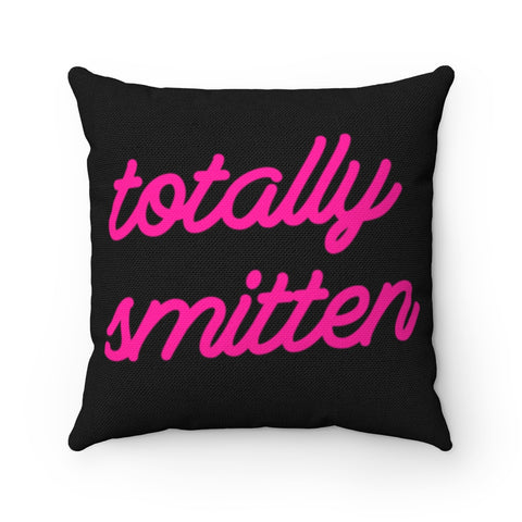 Totally Smitten Neon Sign - Square Pillow Case - No Insert