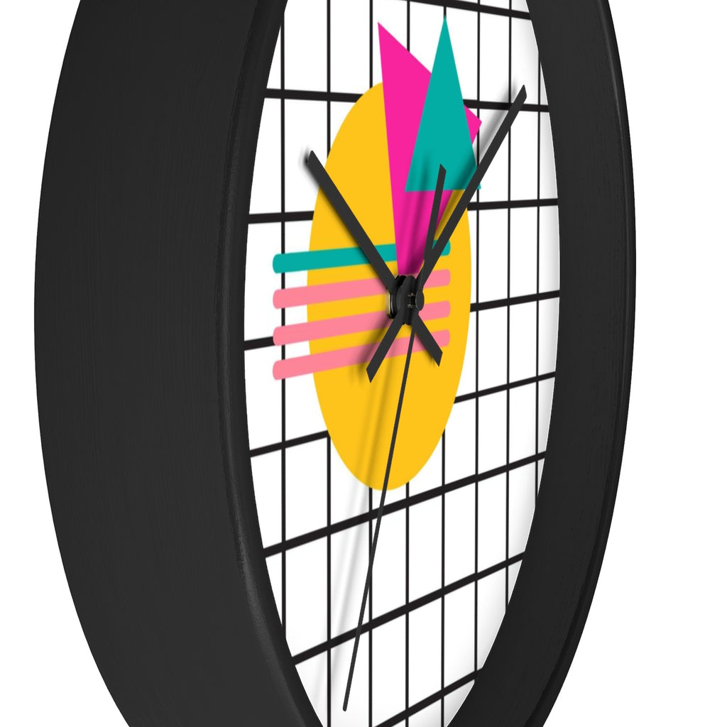 Memphis 80's Style Saved by the Bell Style Wall clock