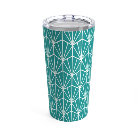 Teal Art Deco Print Stainless Steel 20oz Tumbler