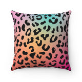 Rainbow Gradient Leopard Print Pillow Case - No Insert