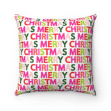 Merry Christmas Holiday Throw Pillow