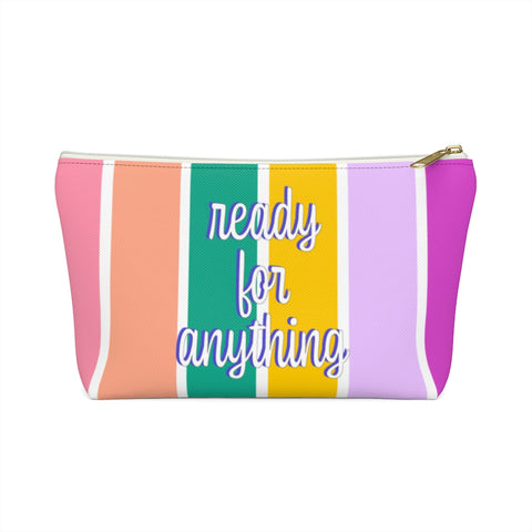 Ready for Anything Stripe Zipper Pouch