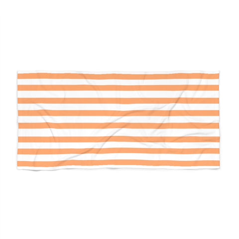 Peach Cabana Stripe Beach Towel