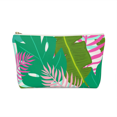 Tropical Palm Leaf Zipper Pouch