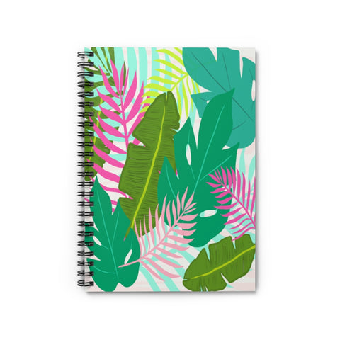 Tropical Palm Leaf Notebook - Ruled Line