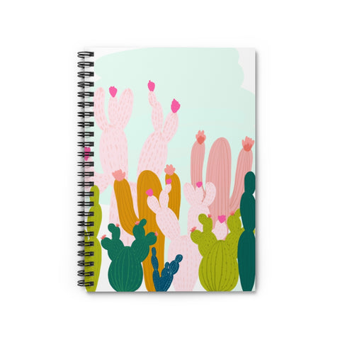 Cactus Print Notebook - Ruled Line