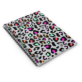 Neon Leopard Spiral Notebook - Ruled Line