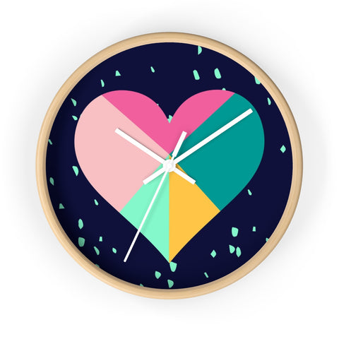 Geometric Heart Wall Clock