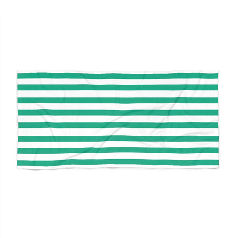 Emerald Cabana Stripe Beach Towel