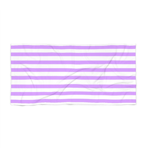 Purple Cabana Stripe Beach Towel