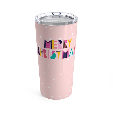 80's Merry Christmas Stainless Steel 20oz Tumbler