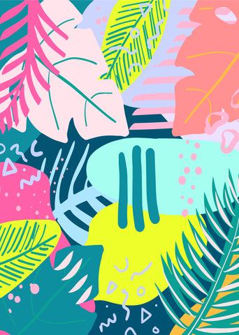 80's Tropical Printable Art