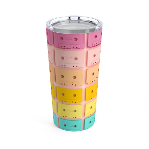 Colorful Cassette Tapes Stainless Steel 20oz Tumbler