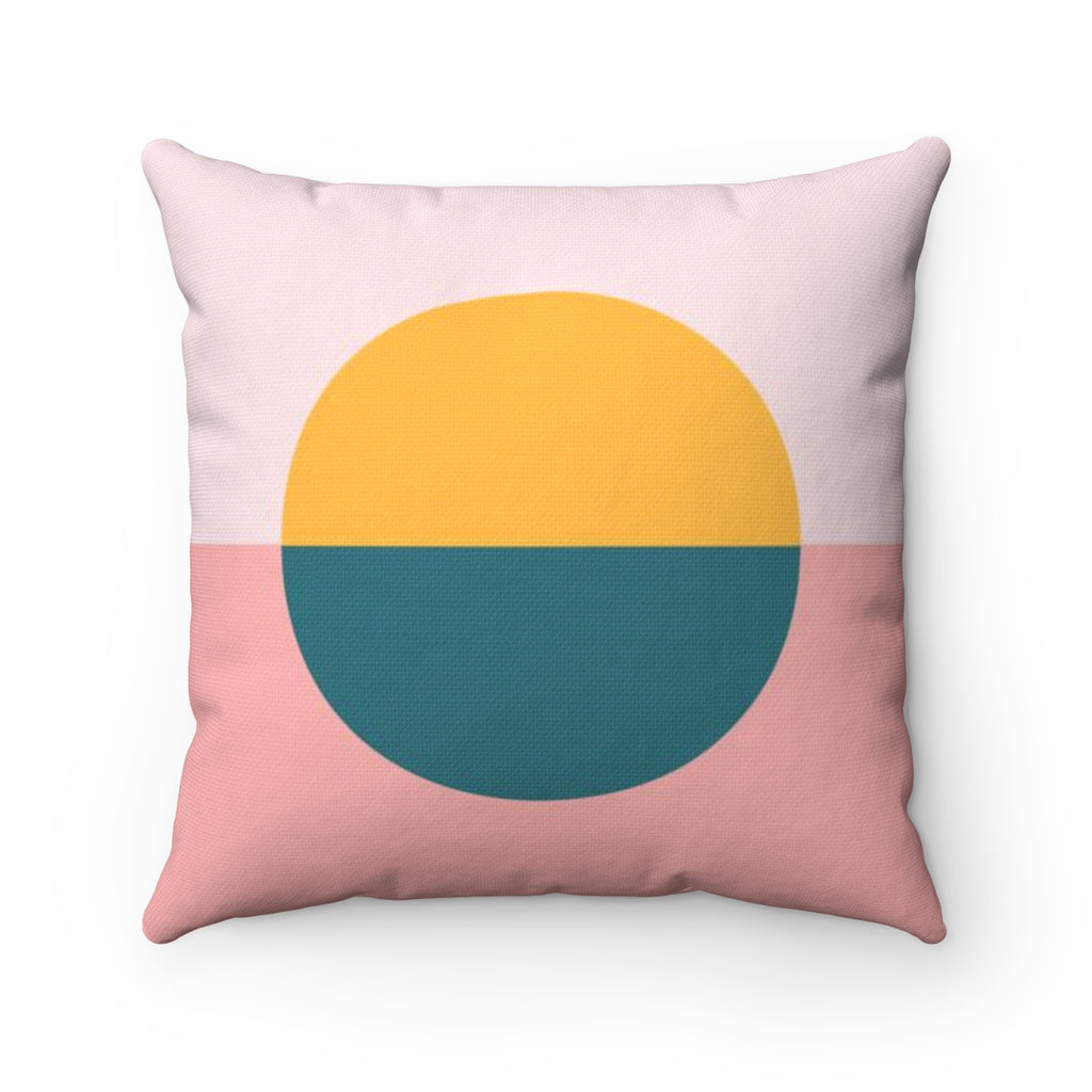 Color Blocked Circle Square Throw Pillow Kailo Chic