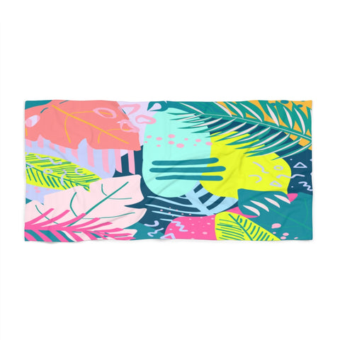 Tropical 80s Beach Towel