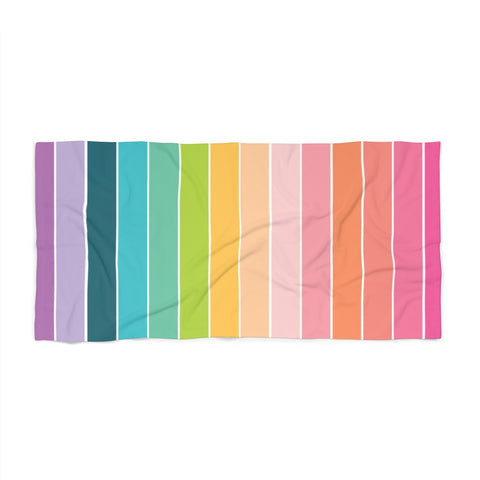 Rainbow Stripe Beach Towel