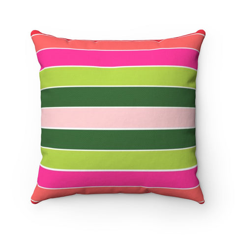 Christmas Classic Stripe Holiday Throw Pillow
