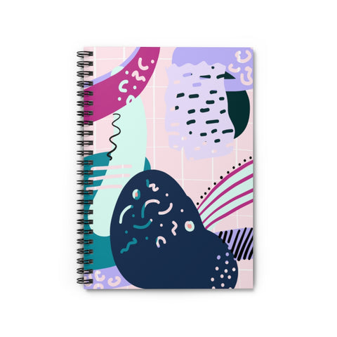 Bold Pastel 80's Abstract Notebook - Ruled Line