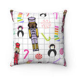 Christmas Candy Land Holiday Throw Pillow