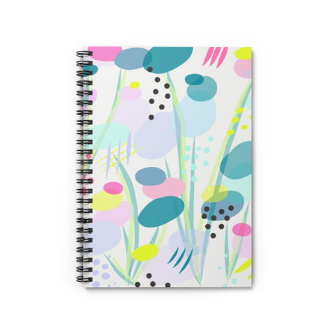 Abstract Pond Flower Notebook - Ruled Line