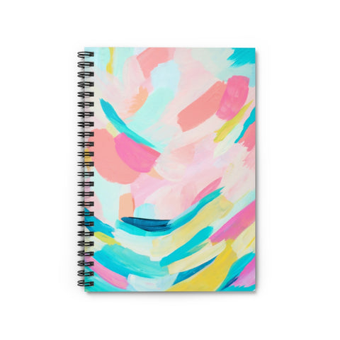 Rainbow Abstract Print Spiral Notebook - Ruled Line