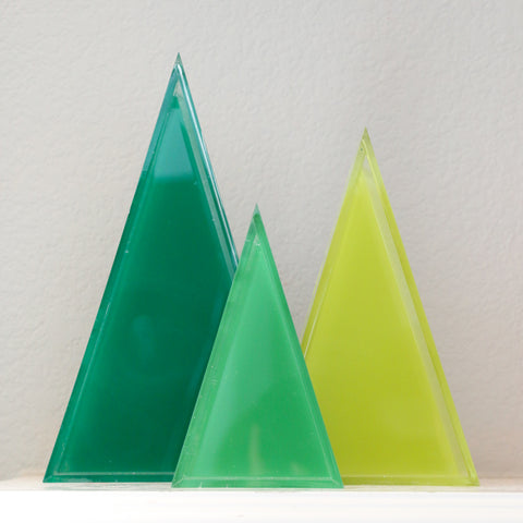 Acrylic Triangle Decor