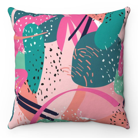 Abstract Cactus Throw Pillow