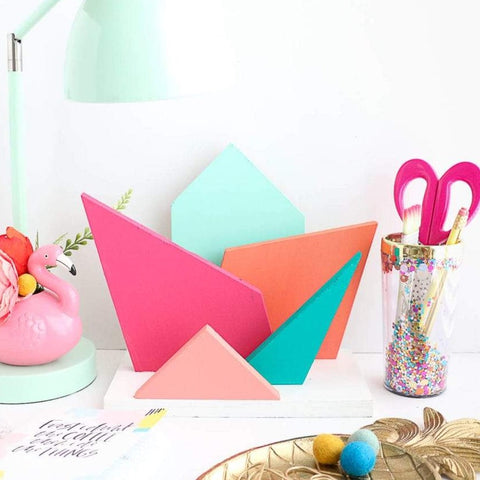 Geometric Shapes Desk Organizer Home Decor Craft Kit