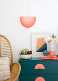 Half Circle Rainbow Pendant Light Kit