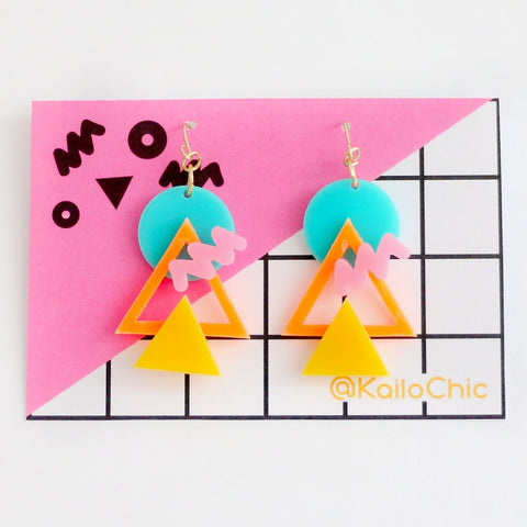 80's Modern Acrylic Earrings