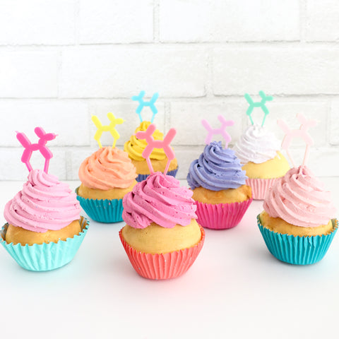 Balloon Dog Cupcake Toppers