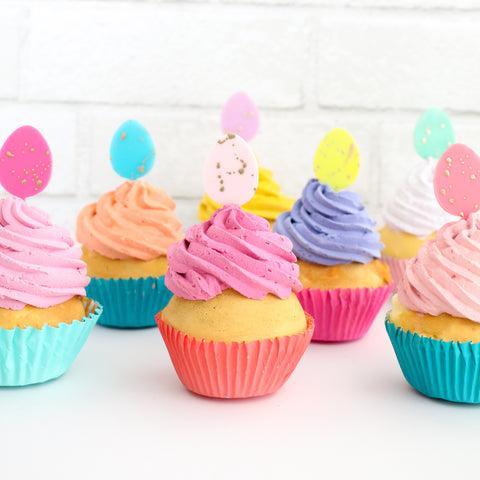 Speckled Egg Cupcake Toppers