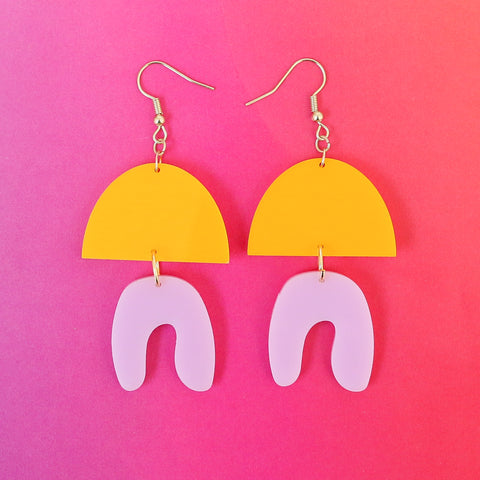 Organic Shaped Acrylic Earrings - Choose your Colors
