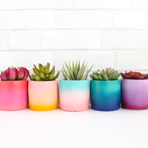 Small Gradient Cement Planter