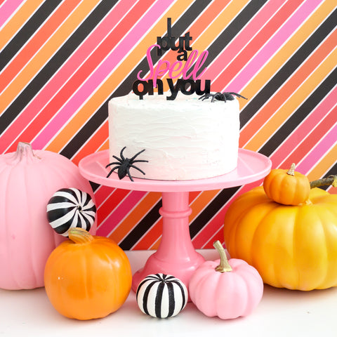 I Put a Spell on You Halloween Acrylic Cake Topper