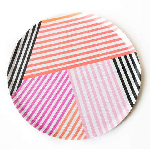 Stripes Large Paper Plate Pack