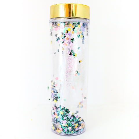 Halloween Iridescent Bat, Star, and Moon Drink Tumbler