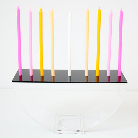 Acrylic Semi Circle Menorah