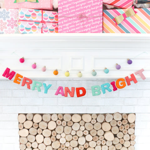 Merry and Bright Felt Letter Garland